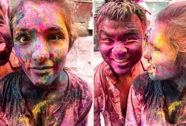 After Effects of Celebrating Holi Festival In Pushkar India