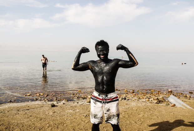 Kien Lam Covered In Dead Sea Mud