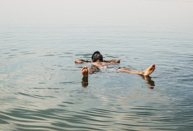 Kien Lam Floating In Dead Sea
