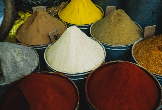 Spice Mounds In Fes Old Souk