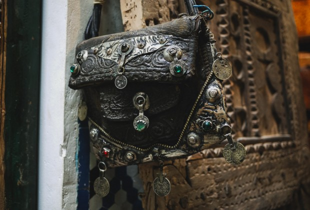 Vintage Style Moroccan Nomadic Bedouin Leather Purse