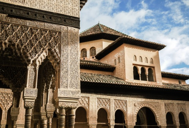 Classic example of Islamic architecture in the Alhambra, Granada