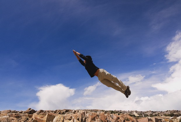 Kien Lam Attempting Superman Jumping Shot Isla Del Sol