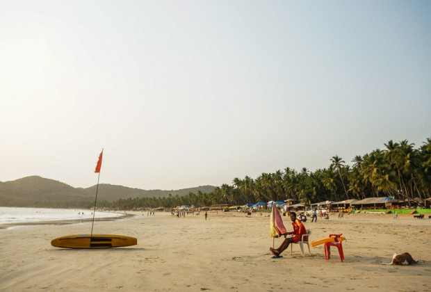 Palolem Beach Lifeguard at Sunset