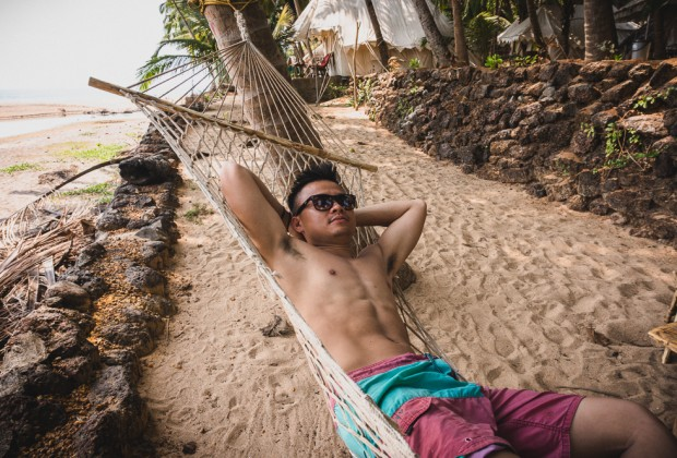 Relaxing On A Hammock On Coca Cola Beach