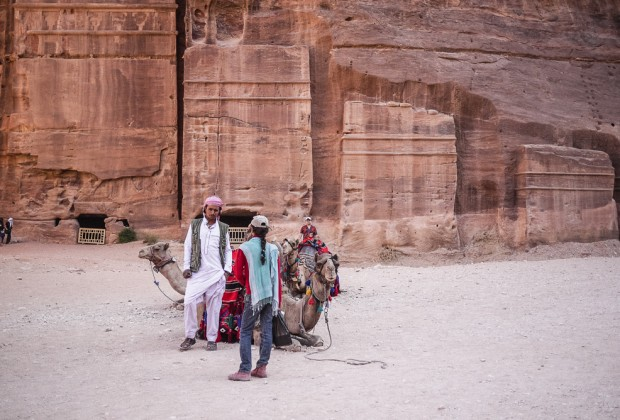 Camel driver in Petra