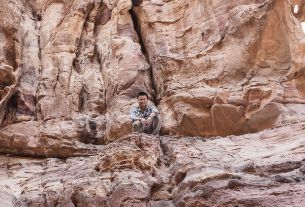 Kien Lam hanging out in Petra