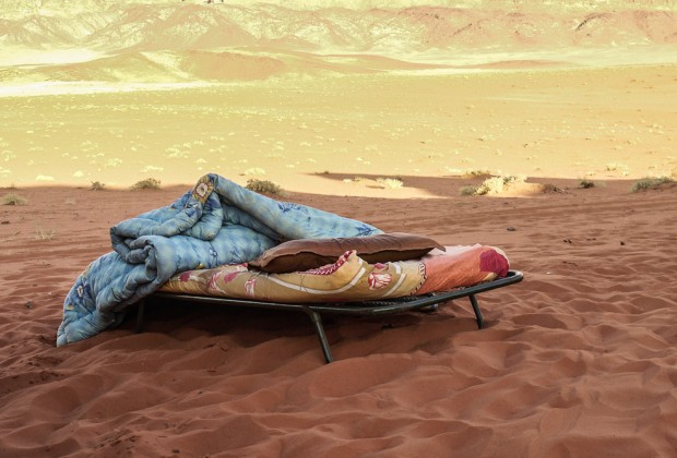 Bedouin Camp Bed In Desert