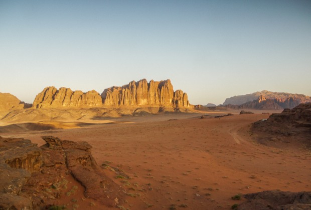 Bedouin Camp At Sunrise in Wadi Rum, Jordan